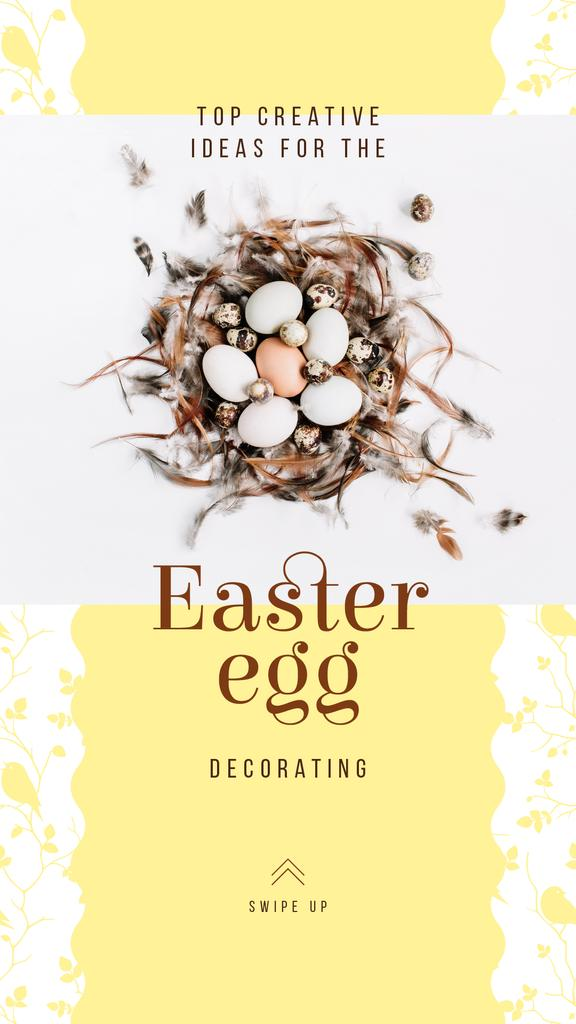Easter eggs in nest — Modelo de projeto