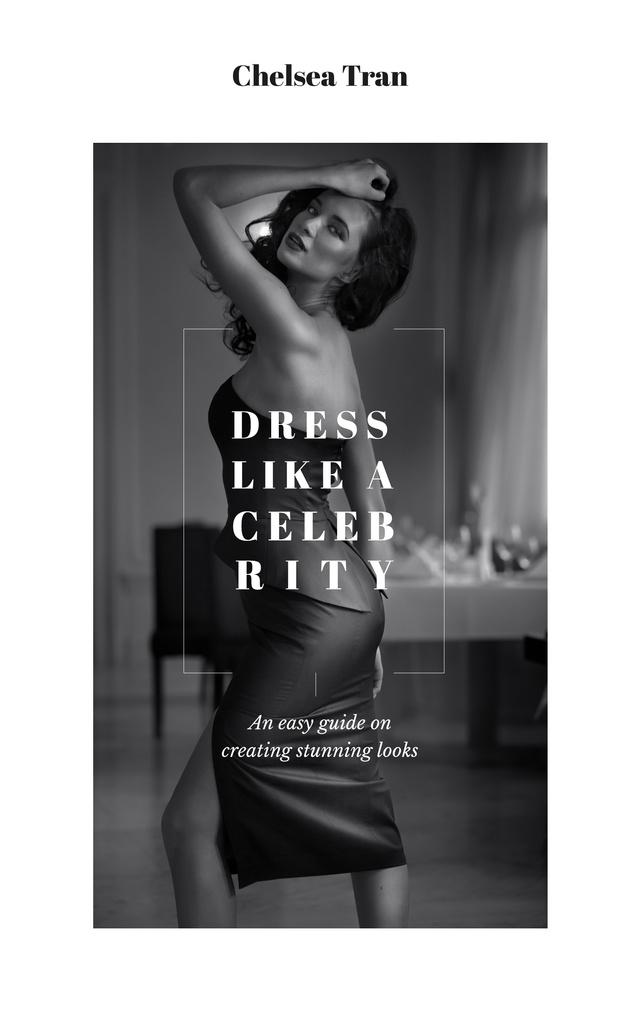 Plantilla de diseño de Young Attractive Woman in Stylish Clothes Book Cover