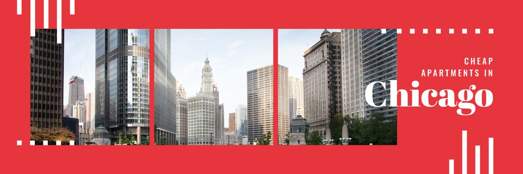 Real Estate in Chicago Twitter Design Template