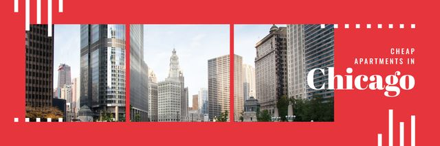 Plantilla de diseño de Real Estate in Chicago Twitter
