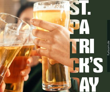 Plantilla de diseño de People drinking beer on Saint Patrick's Day Facebook