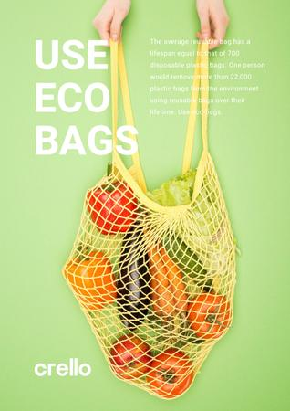 Template di design Fresh Vegetables in Net Bag Poster