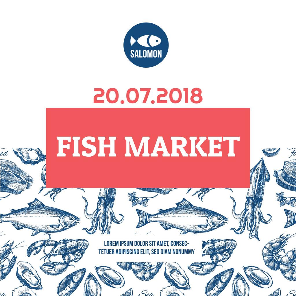 Fish market advertisement — Maak een ontwerp