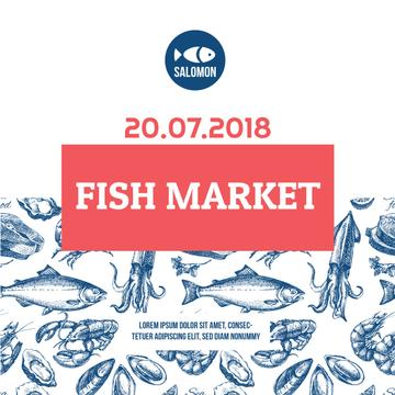 Fish market advertisement