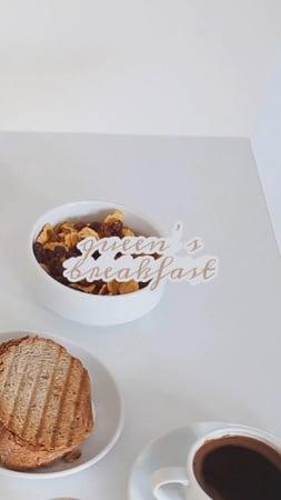 Plantilla de diseño de Delicious breakfast with Coffee TikTok Video
