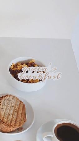 Delicious breakfast with Coffee TikTok Video Tasarım Şablonu