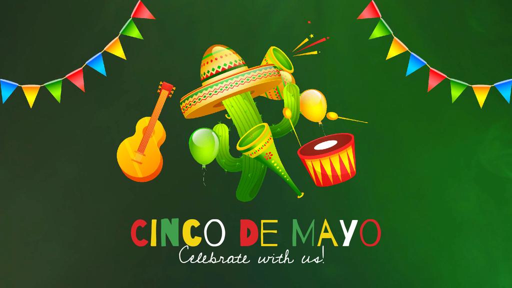 Cinco de Mayo Mexican holiday — Modelo de projeto