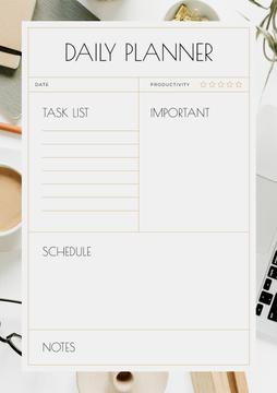 Daily Planner with Workplace
