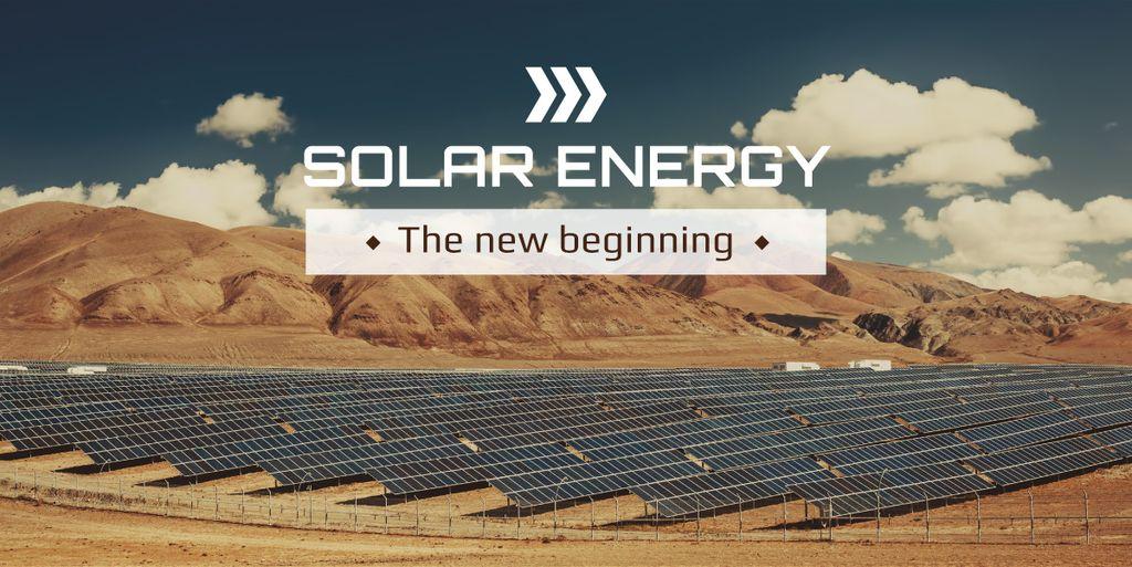 Solar energy banner — Modelo de projeto