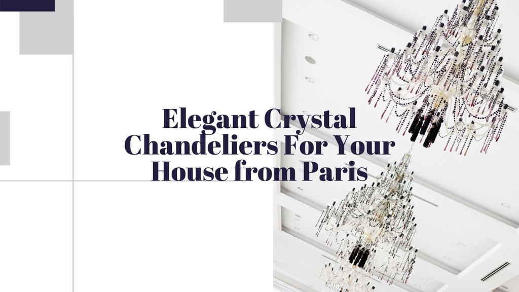 Elegant Crystal Chandeliers Offer in White | Youtube Channel Art — Créer un visuel