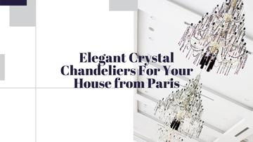 Elegant Crystal Chandeliers Offer in White | Youtube Channel Art