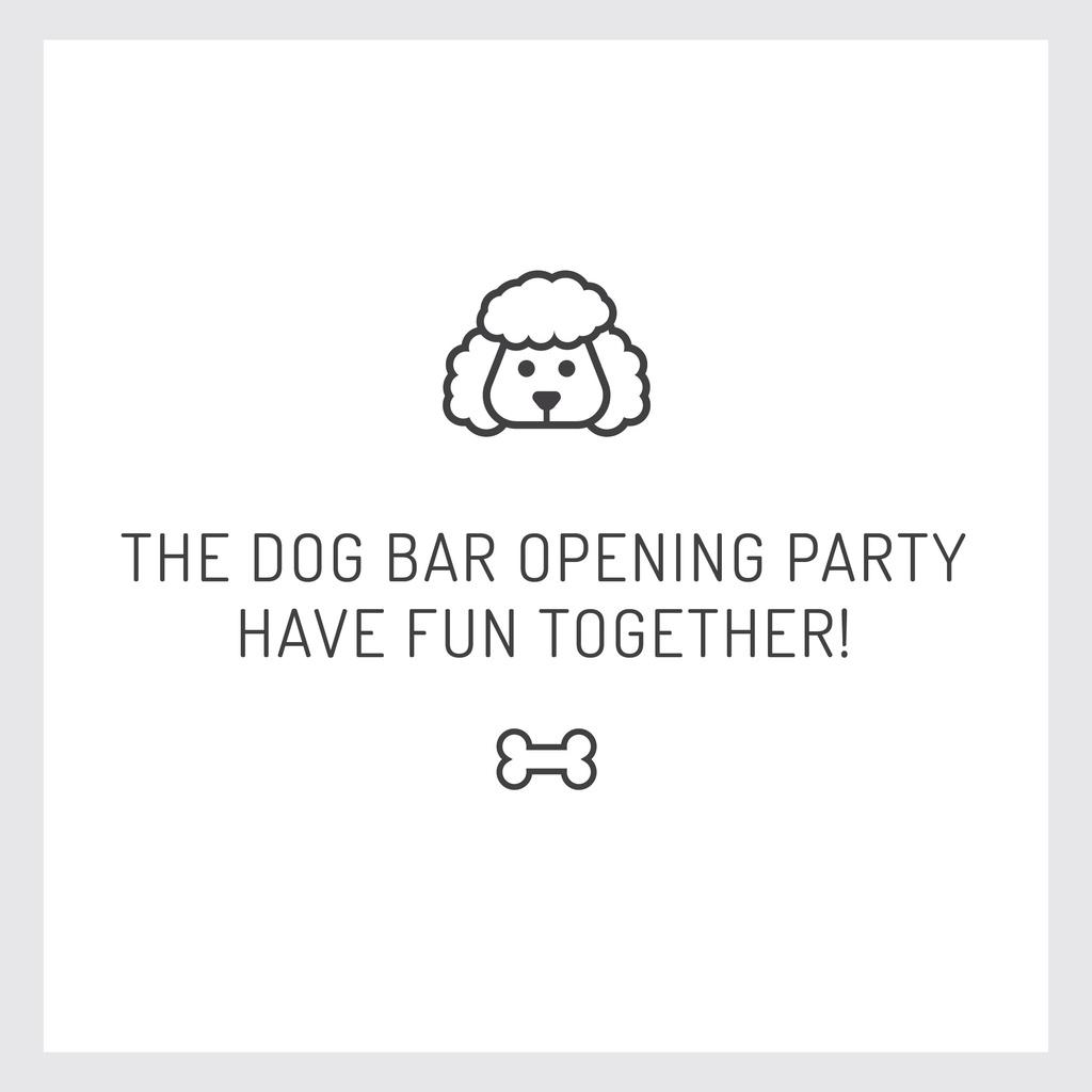 Pet Bar Party Invitation with Dog icon — Crear un diseño