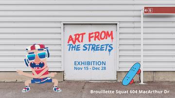 Street Art Funny Skateboarder Dancing on Backstreet