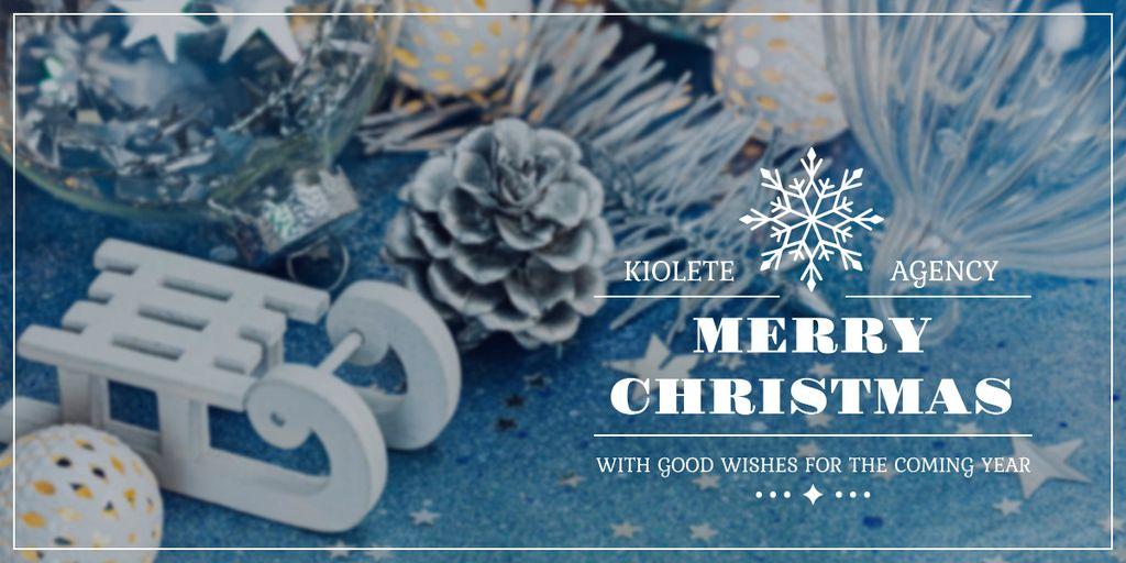 Plantilla de diseño de Merry Christmas card Image