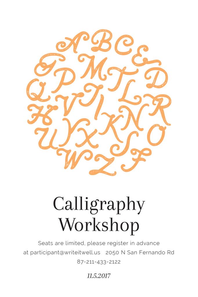 Calligraphy workshop poster — Modelo de projeto