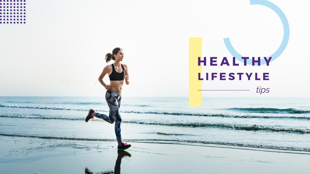Healthy lifestyle tips — ein Design erstellen