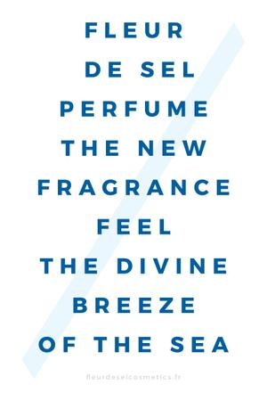 Plantilla de diseño de New Perfume Ad in blue Pinterest