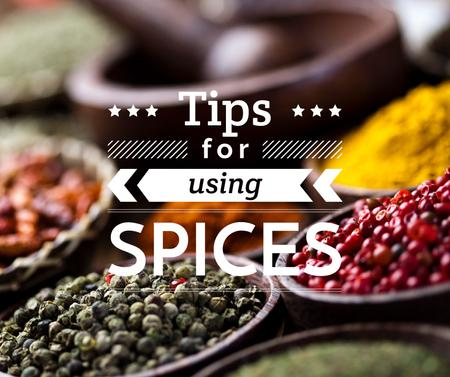 Ontwerpsjabloon van Facebook van Tips for using Spices with peppers