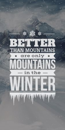 winter mountains poster with inspirational quote Graphic – шаблон для дизайна
