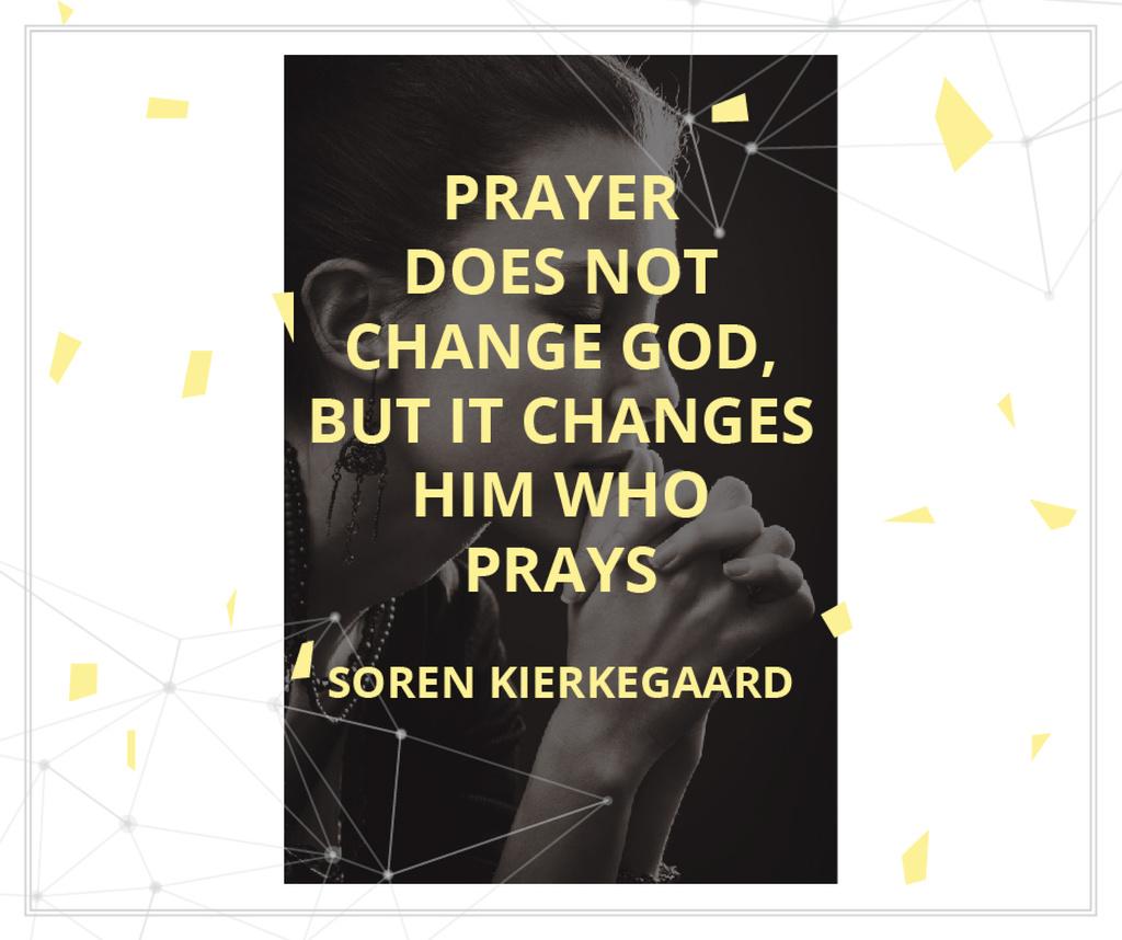 Religion Quote with Woman Praying — Créer un visuel