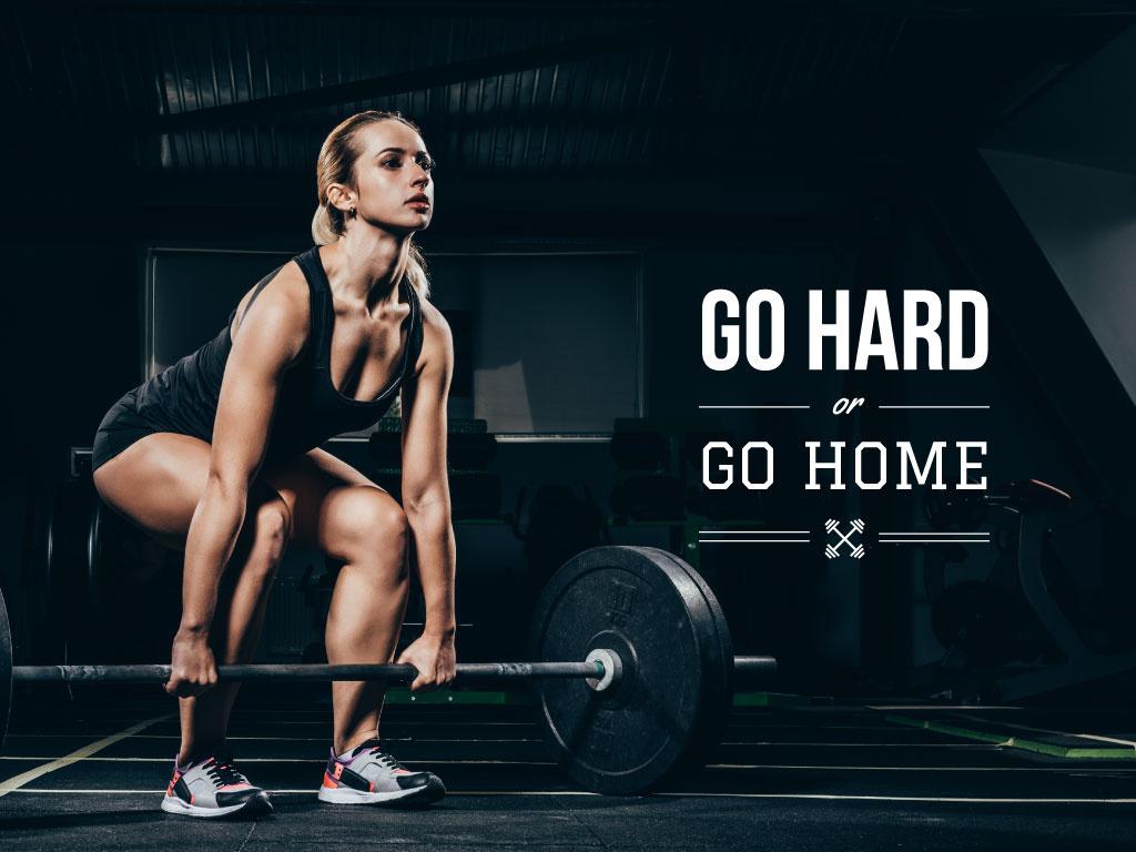 Poster about hard sport training — ein Design erstellen