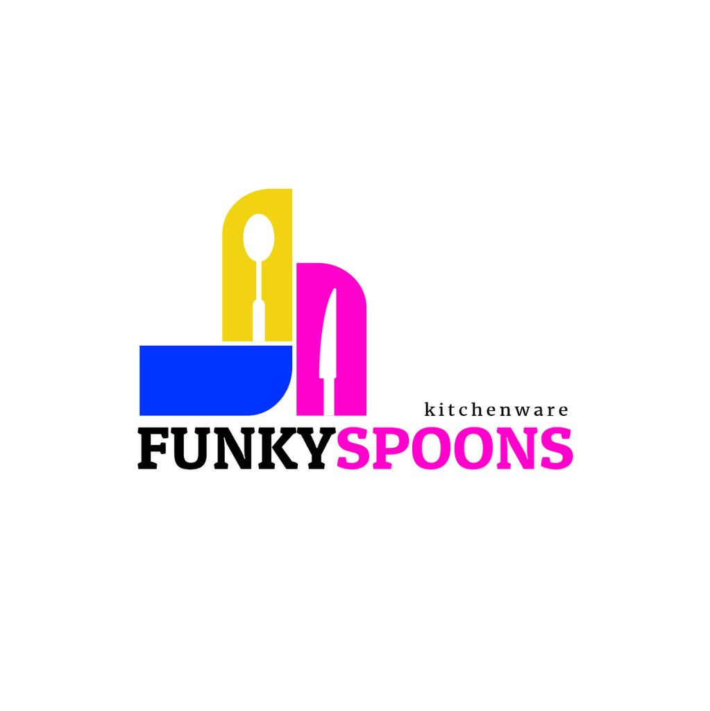 Kitchenware Ad Spoon and Knife Silhouettes | Logo Template — Створити дизайн
