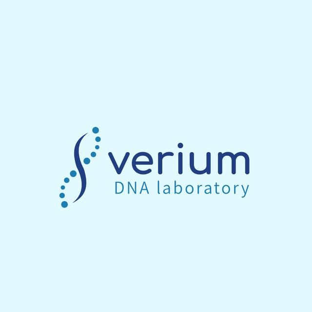 Test Laboratory Ad with DNA Molecule Icon Logo – шаблон для дизайна