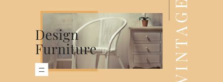Plantilla de diseño de Design Furniture Offer with Modern Interior Facebook cover
