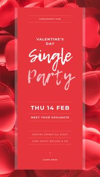Invitation to Single Party on Valentine's Day