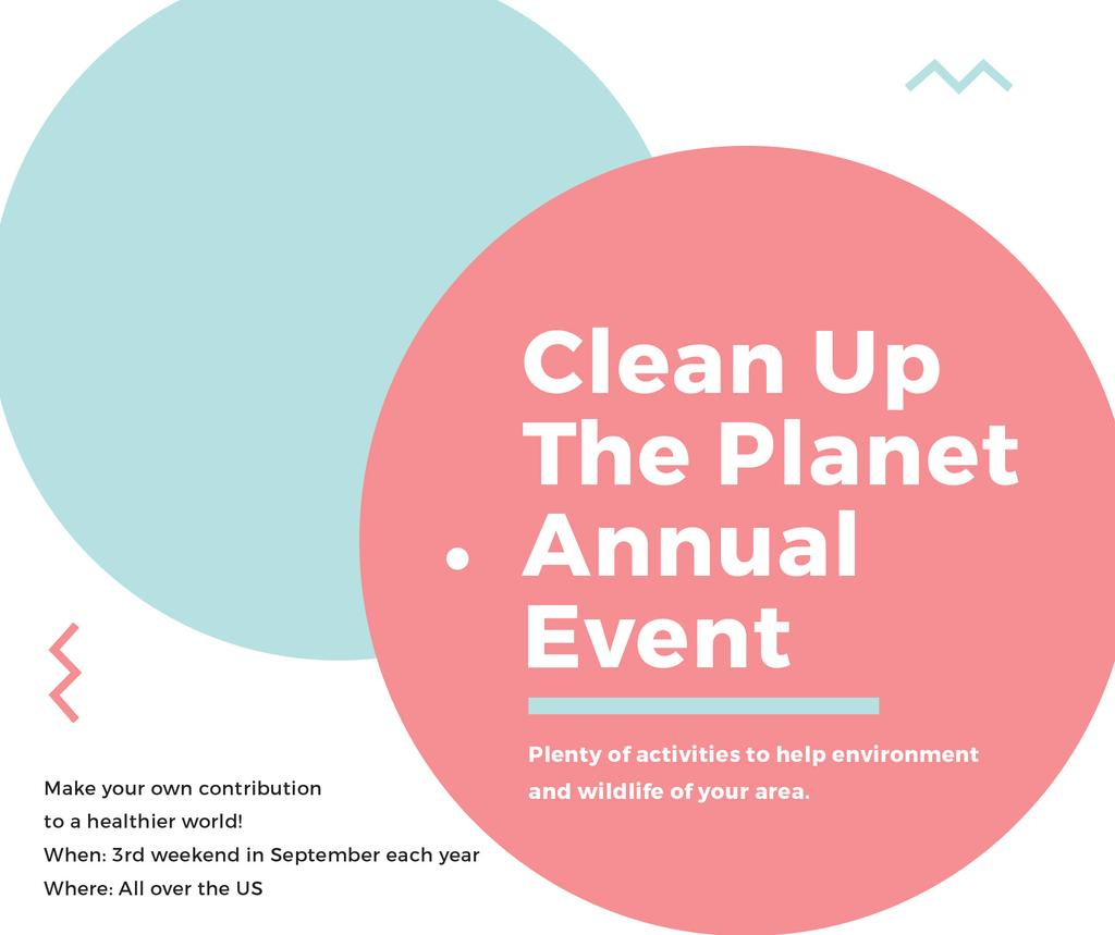Ecological Event Announcement Simple Circles Frame | Facebook Post Template — Створити дизайн