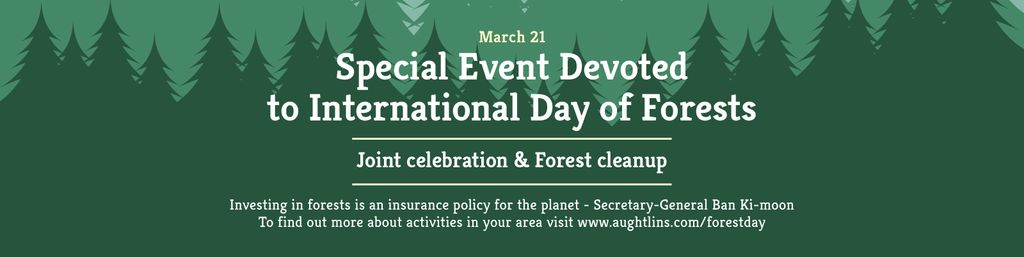 Special Event devoted to International Day of Forests — Crea un design
