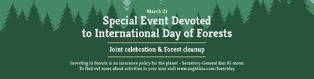 Ontwerpsjabloon van Twitter van Special Event devoted to International Day of Forests