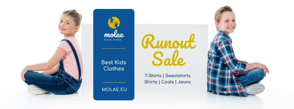 Kids Clothes Sale Children in Pretty Outfits — Créer un visuel