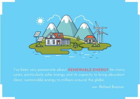 Renewable energy technologies Postcard Modelo de Design