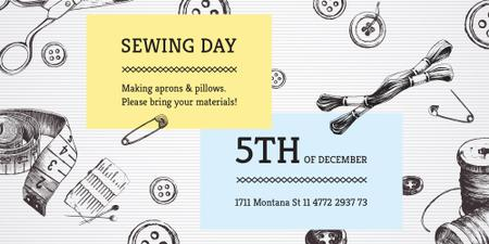 Modèle de visuel Sewing day event - Image
