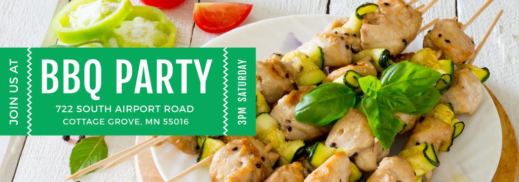 BBQ Party Grilled Chicken on Skewers — Создать дизайн