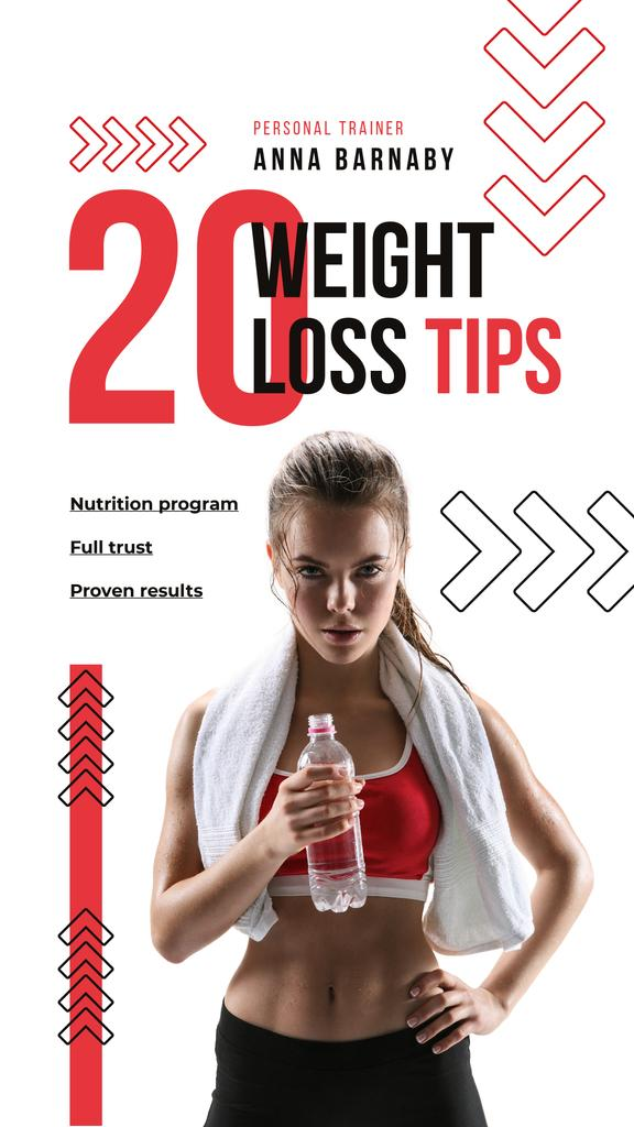 Weight Loss Program Ad with Fit Woman | Stories Template — Crear un diseño