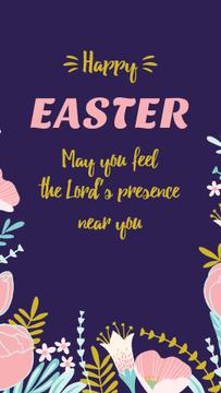 Easter Greeting with Flowers