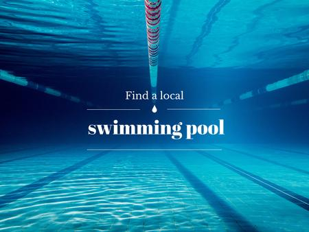 Ontwerpsjabloon van Presentation van Local swimming pool Ad