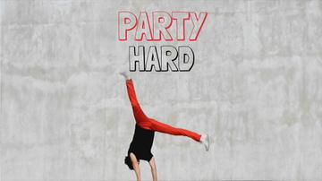 Party Invitation Man Break Dancing