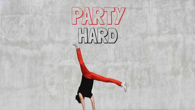 Party Invitation Man Break Dancing Full HD video Design Template