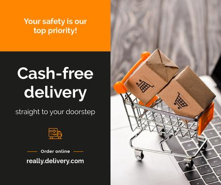Cash-free delivery Service during Quarantine Facebook Tasarım Şablonu