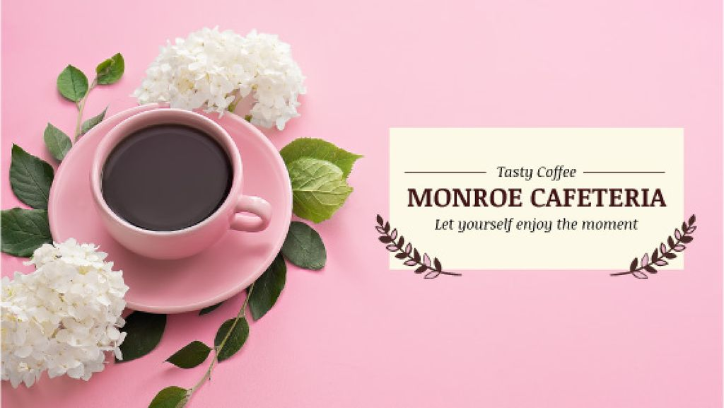Monroe cafeteria advertisement with coffee cup — Create a Design