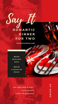 St. Valentine's Day Festive Table Setting | Stories Template