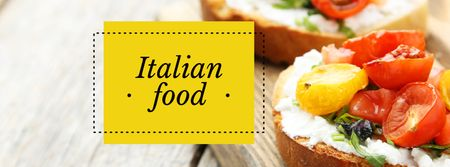 Restaurant promotion with Italian dish Facebook cover Modelo de Design