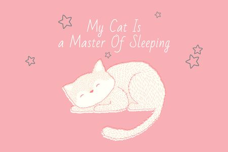 Template di design Citation about sleeping cat Gift Certificate