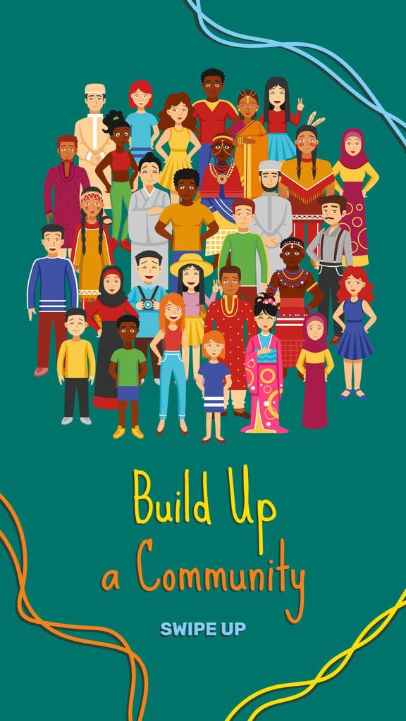 Diverse multicultural people — Créer un visuel