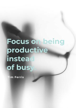 Plantilla de diseño de Citation about being productive Poster