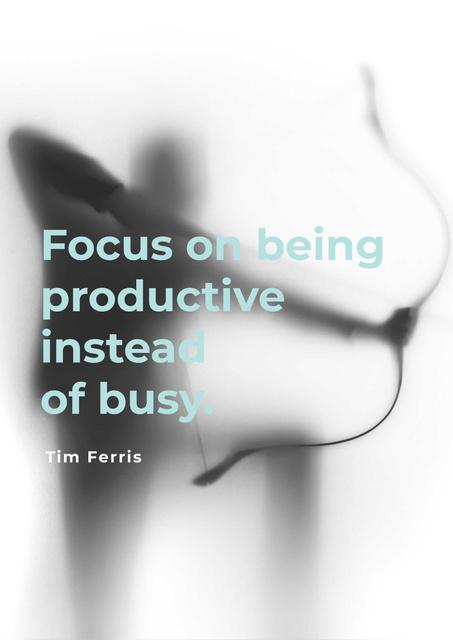 Citation about being productive Poster – шаблон для дизайну