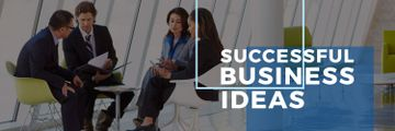 Successful business ideas poster with business people during meeting